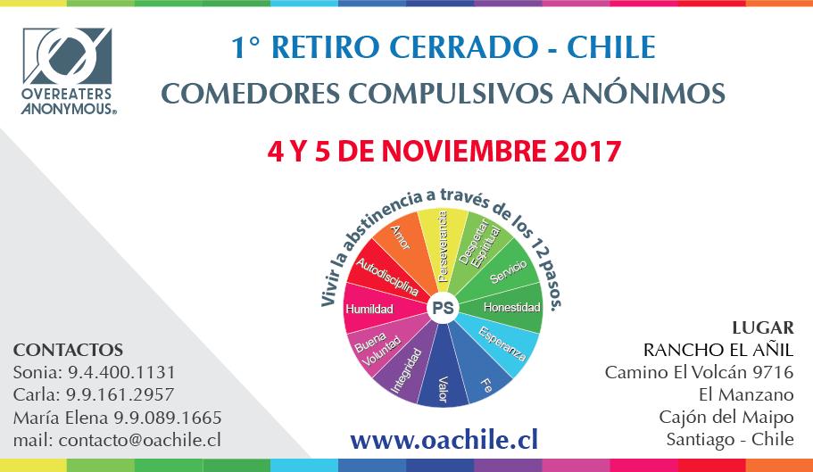Comedores Compulsivos Anónimos Chile 1º Retiro Cerrado CCA – Chile